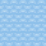 Nahtloser Musterhintergrund blauen Gewebe ikat Pastelldiamanten Stockfotos