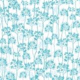 Nahtloser Musterhintergrund der abstrakten blauen Bäume vektor abbildung