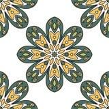 Nahtloser Musterhintergrund der abstrakten Blume Stockfotografie