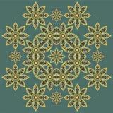 Nahtloser Musterhintergrund der abstrakten Blume Stockbilder