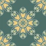 Nahtloser Musterhintergrund der abstrakten Blume Stockbild