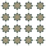 Nahtloser Musterhintergrund der abstrakten Blume Lizenzfreie Stockfotografie