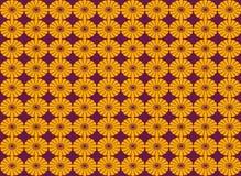 Nahtloser Musterhintergrund der abstrakten Blumenform Lizenzfreie Abbildung