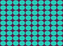 Nahtloser Musterhintergrund der abstrakten Blumenform Vektor Abbildung