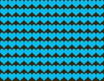 Nahtloser Musterhintergrund der abstrakten Herzform Stock Abbildung