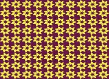 Nahtloser Musterhintergrund der abstrakten Sternform Stock Abbildung