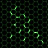 Nahtloser Musterhintergrund der Bienenwabe Lizenzfreie Stockbilder
