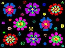 Nahtloser Musterhintergrund der bunten abstrakten Blume Vektor Abbildung