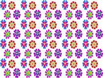 Nahtloser Musterhintergrund der bunten abstrakten Blume Lizenzfreie Abbildung