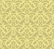Nahtloser Musterhintergrund der durchdachten goldenen Weinlese Stockfoto