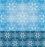 Nahtloser Musterhintergrund der geometrischen Schneeflocken Lizenzfreie Stockbilder