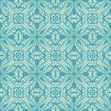 Nahtloser Musterhintergrund der langen Urlaubblumenblätter im blauen Ton lizenzfreie stockbilder