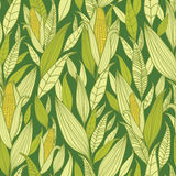 Nahtloser Musterhintergrund der Maispflanzen Stockfotografie