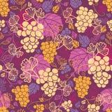 Nahtloser Musterhintergrund der süßen Weinreben lizenzfreie abbildung