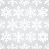 Nahtloser Musterhintergrund der Schneeflocken Lizenzfreie Stockfotos