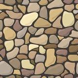 Nahtloser Musterhintergrund der Steinwand Lizenzfreie Stockbilder