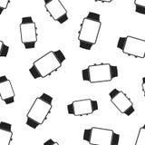 Nahtloser Musterhintergrund der Uhruhr Flacher Vektor IL des Geschäfts Lizenzfreie Stockfotos