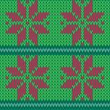 Nahtloser Musterhintergrund der Vektor-roten und grünen Faire-Insel stock abbildung