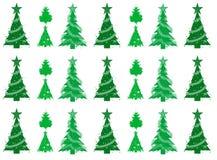 Nahtloser Musterhintergrund der Weihnachtsbäume Stock Abbildung