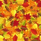 Nahtloser Musterhintergrund des bunten Herbstlaubs Würzen Sie Feiertagsdekoration, Packpapier, der Textildruck, generisch stock abbildung