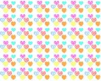 Nahtloser Musterhintergrund des bunten Herzens Vektor Abbildung