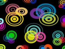 Nahtloser Musterhintergrund des Kreises Vektor Abbildung