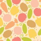 Nahtloser Musterhintergrund des leckeren Gemüses Stockbild