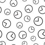 Nahtloser Musterhintergrund des Uhrtimers Flacher Vektor IL des Geschäfts Stockbild