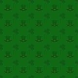 Nahtloser Musterhintergrund des Vektors für St Patrick Tag Stockfotografie