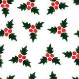 Nahtloser Musterhintergrund des Watercolour für Weihnachten Stockfotografie