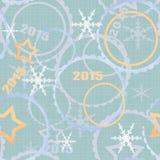 Nahtloser Musterhintergrund des Winters 2015 Stockfoto
