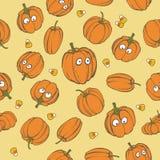 Nahtloser Musterhintergrund Halloween-Feiertags mit Handzeichnungselementen - Kürbis Es kann für Leistung der Planungsarbeit notw stockfoto