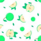 Nahtloser Musterhintergrund mit dem grünen Apfelvektor für eine andere Grafik oder verzieren Hintergrund lizenzfreie abbildung