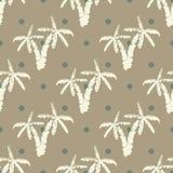 Nahtloser Musterhintergrund mit Hand gezeichneten Palmen, Sommer semless, Hintergrund, Vektorillustration stock abbildung