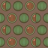 Nahtloser Musterhintergrund mit Wassermelonen, bunte Illustration Vektor eps10 lizenzfreie abbildung