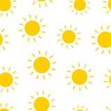 Nahtloser Musterhintergrund Sun Flaches illustrati Vektor des Geschäfts Lizenzfreies Stockfoto