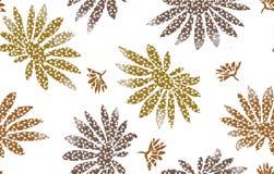 Nahtloser Mustermit blumenhintergrund Verzierung mit stilisierter Blatt- und Blumenbeschaffenheit stockbild