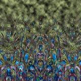 Nahtloser Mustermit blumenhintergrund Verzierung mit stilisierter Blatt- und Blumenbeschaffenheit Stockbilder