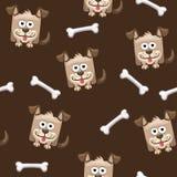 Nahtloser Musterquadrathund und -knochen Lizenzfreie Stockfotografie