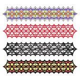 Nahtloser Mustersatz der geometrischen Verzierungszusammenfassung Lizenzfreie Stockbilder