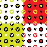 Nahtloser Mustersatz der Herzen Lizenzfreie Stockfotos