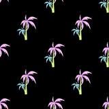 Nahtloser Mustervektor der Palme Stockbild