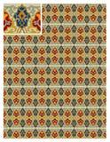 Nahtloser Mustervorratvektor, Gebrauch für mit Ziegeln gedeckten Hintergrund, gefärbt vektor abbildung