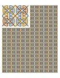 Nahtloser Mustervorratvektor, Gebrauch für mit Ziegeln gedeckten Hintergrund, gefärbt stock abbildung