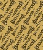 Nahtloser Nagel Muster-Hintergrund Artskizze Lizenzfreies Stockfoto