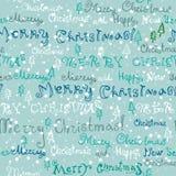Nahtloser netter handgeschriebener Weihnachtstext Lizenzfreie Stockfotografie