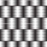 Nahtloser optischer Kunstmuster-Hintergrundvektor Schwarzweiss Lizenzfreie Stockfotos