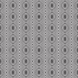 Nahtloser optischer Kunstmuster-Hintergrundvektor Schwarzweiss Stockfoto