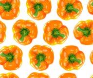 Nahtloser orange grüner Pfeffer Lizenzfreie Stockfotos