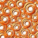 Nahtloser orange Ring Pattern lizenzfreie stockfotos